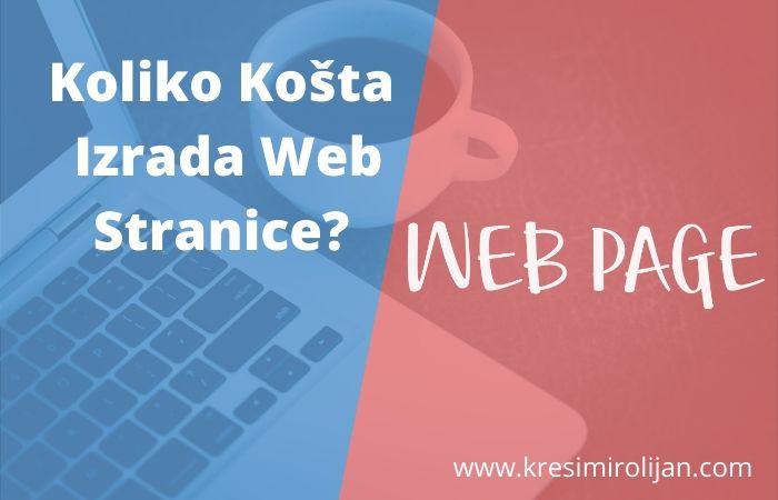 izrada web stranice cijena wordpress weba