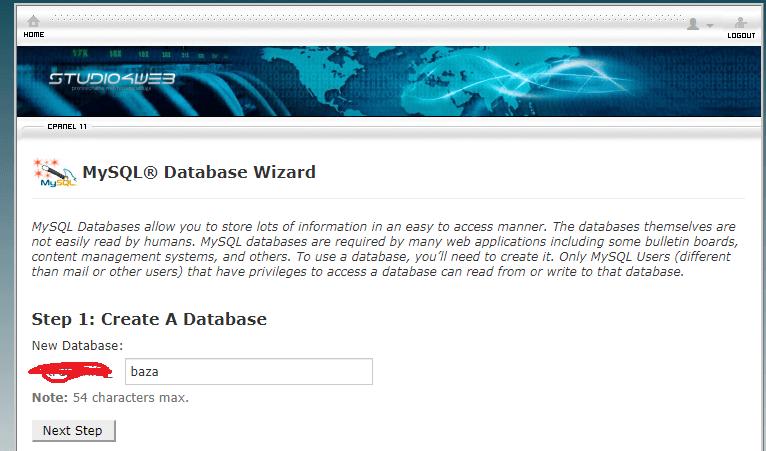 ime baze podataka