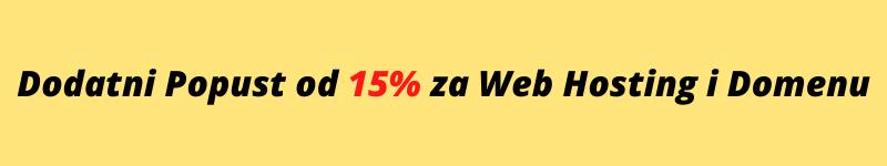 web hosting i domena uz kupon od 15% popusta na cijelu narudžbu