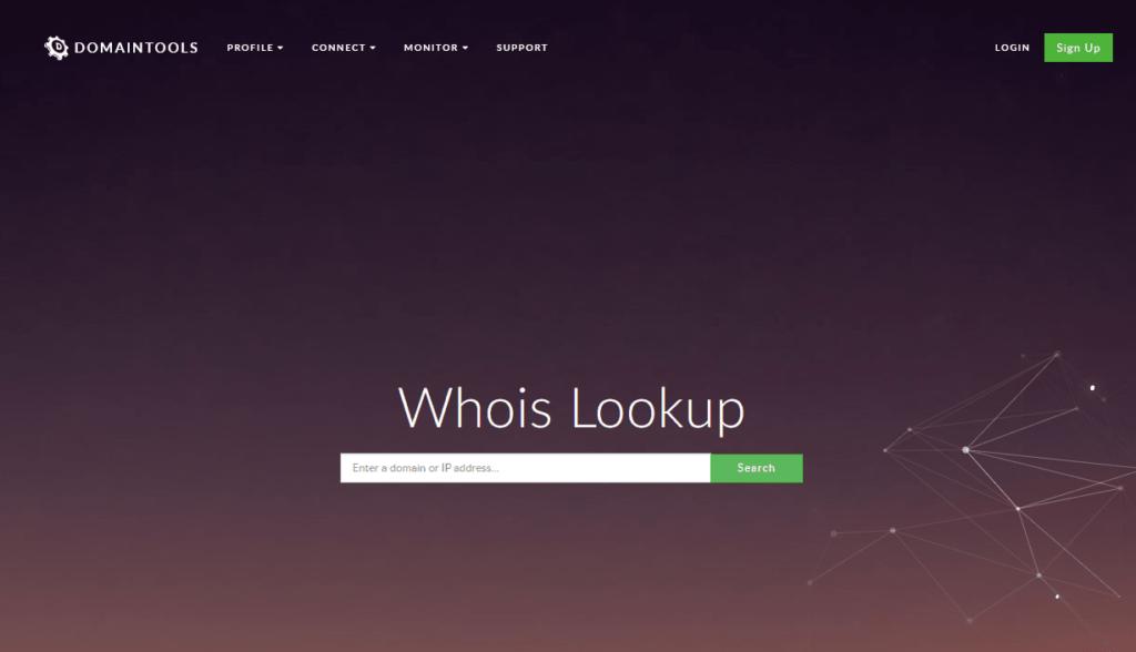 kako provjeriti vlasnika domene, popularan web servis je whois.domaintools