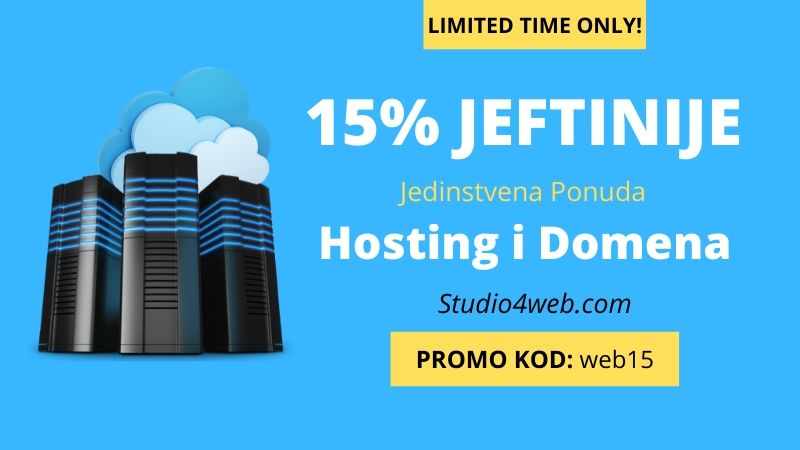 web hosting cijena povoljnije uz 15% popusta