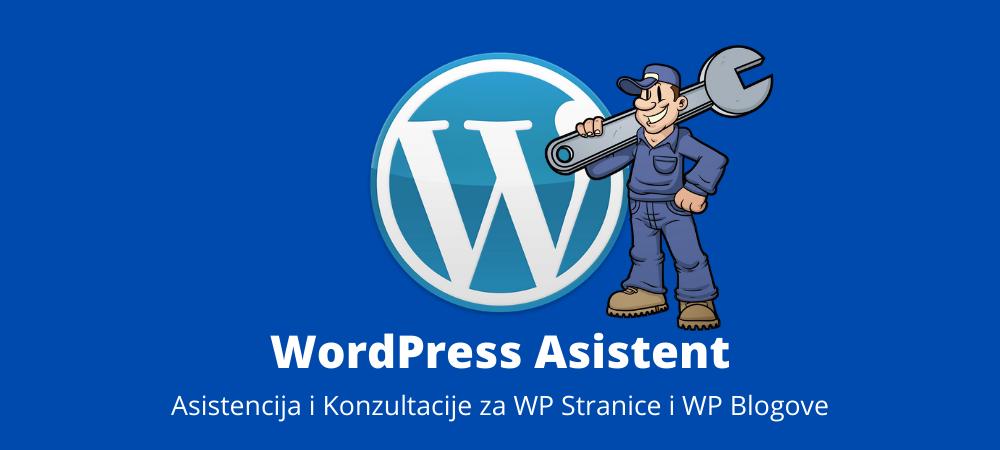 wordpress asistent za asistenciju i konzultacije oko wordpress web stranica i blogova