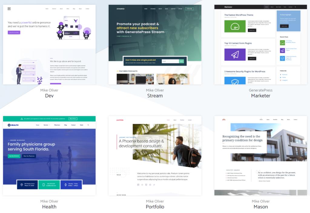 generatepress predlošci dizajne WordPress stranica